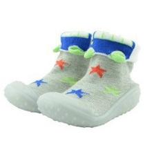 Calcetines de goma personalizados de la sudadera del bebé del niño para los muchachos y las muchachas