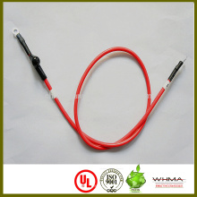 Batteriekabel für Elektrofahrräder oder Elektroautos mit Ringkabelschuh, Nummernschild und Schrumpfschlauch
