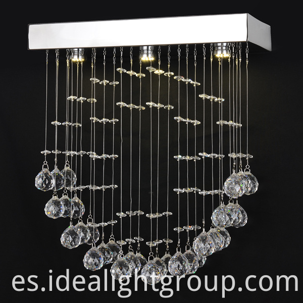 indoor clear chandeliers