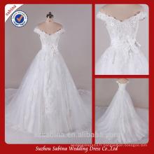 Sh0415 Off The Shoulder Robes de mariée avec manches Robe de mariage en vraie mesure
