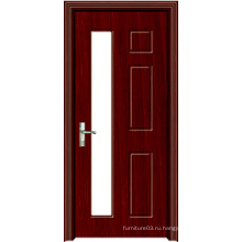 Деревянная дверь высокого качества PVC высокого качества с конструкцией способа