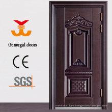 Puerta de seguridad de acero de metal exterior ISO9001 Heat Grain