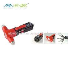 8 en 1 destornillador multi del martillo del rescate de la seguridad con la antorcha del LED