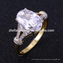 Neue Gold-Designs für Mädchen aaaaa Zirkonia Ringe
