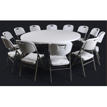 200cm HDPE Blow Molding High Quality Plastic Folding Round Table