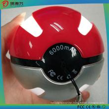 6000mAh Pokemon Go Game Pokeball Power Bank with LED Light