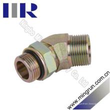 45 Métrica de cotovelo / Adaptador hidráulico de encaixe macho para tubo de vedação Unf macho (1CO4-OG)
