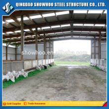 Fabrication de structure en acier à grande portée, hangar de chèvre