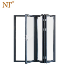 PVC Plastic accordion horizontal folding patio door