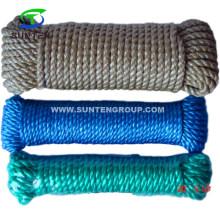3 Strand Twisted/Twist Blue PP/Polypropylene Splitfilm/Split Film Rope in Handle Packing for Supermarket