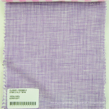 professional breathable yarn dyed 100% pure linen fabric