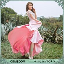 Gute Design rosa Damen ling Abend Party Abnutzung Kleid Satin Abend Kleider in China gemacht