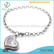 Wholesale jewelry memory charms bracelet, fancy style programmable chain bracelet for girl