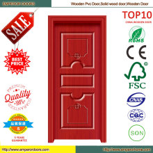 Soundproof Best Price Wooden PVC Door