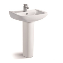 040b Square Bathroom Ceramic Pedestal Basin