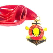 2012 heiße Verkauf Sportmetallmedaille mit nachgemachtem hartem Emaille