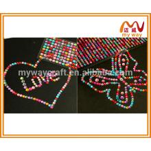 Etiqueta de espelho acrílica redonda e estrela em forma de fantasia para decoração de casa ou decoração de telefone