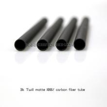 Hobbycarbon 3k Twill matte reine Kohlefaserrohr 12 * 8 * 450mm nahtlose Kohlenstoffstahl Rohr Verwendung für Multicopter Arm
