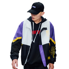 Jaqueta corta-vento com capuz masculino de venda quente