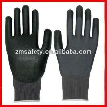Good price Black string knitting gloves pu coating