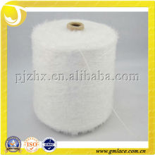 original color white 100%nylon feather yarn for knitting,fabric