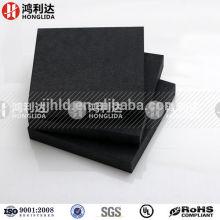Hoja de aislamiento durostone de fibra de carbono negro de fibra