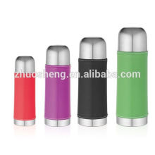 High quality bullet lid classic shaped single color stainless steel vacuum flask