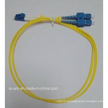 Cable de fibra óptica SC / PC LC / PC