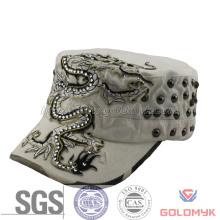 Fashion Army Cap with Rhinestone and Riveting (GKA05-F00007)