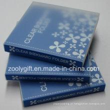 Personalizado impressão clara plástico PP PVC marcador titular / álbum livro
