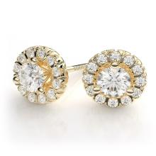 18k Gold überzogene 925 silberne Bolzen-Ohrring-Schmucksachen für Hochzeit