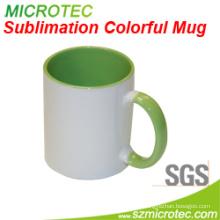 11oz Sublimation Coated Ceramic Two-Tone Color Mug