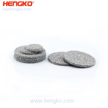 30 - 100um microns sintered porous metal stainless steel 316L bronze disc filters