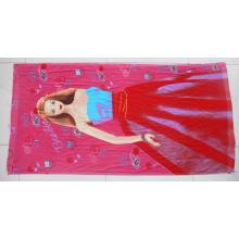 Toalha de impressão reativa de veludo 100% algodão para piscina de hotel (DPF10100)