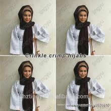 nuevo estilo musulmán abaya turco hijab pavo arruga hijab malasia viscosa bufanda del hijab