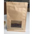 Kraft Paper Dried Food Packaging Bag With Window