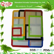 FDA rectángulo antiadherente de silicona para hornear mat set
