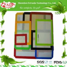 FDA retângulo antiaderente silicone tapete de cozimento conjunto