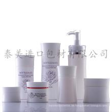 Klasse Stil Runde Form Pumpe und Glas Flaschen für die Hautpflege