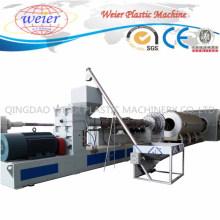 Linha de produção plástica da máquina da extrusora para a tubulação da isolação térmica