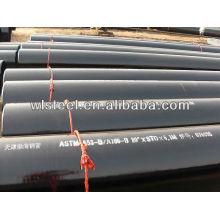 astm a53 / a106 / gr.b schedule 40 tubería de acero al carbono sin costura