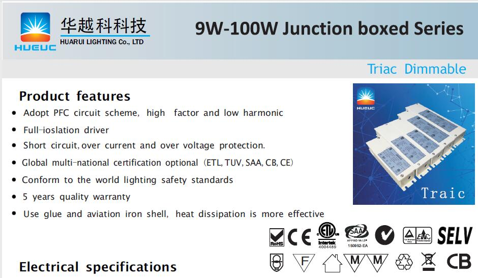 100W high power led driver