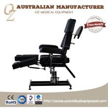 Seção Ajustável Cadeira de Tatuagem Qualidade de Couro Preto Mesa Médica Preço de Fábrica Facial Massagem Cama
