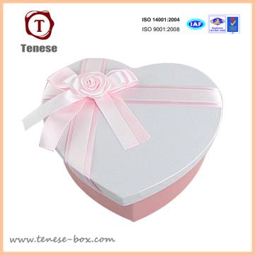 Em forma de coração caixa de presente de embalagem de chocolate