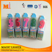 Magic Decorative Colorful Number Party Candles For Birthday Supplies