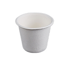 Biodegradable Disposable Soup Sauce Sugarcane bagasse cup with lid sugarcane disposable drinking cup