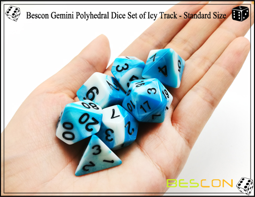 Bescon Gemini Dice Set of Icy Track-2