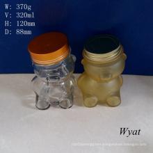 320ml 11oz Bear Design Glass Storage Jar Glass Jam Jar Glass Candy Jar Wholesale