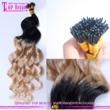 High quality 100% remy brazilian wave beauty cheap i tip ombre hair extension