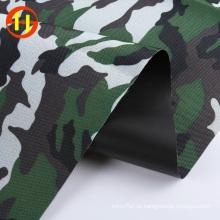 Tela oxford de impresión de camuflaje de poliéster para camisa